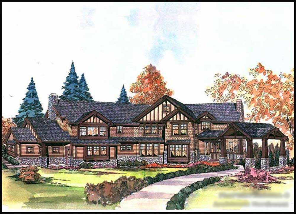 Craftsman InLaw Suite Home With 48 Bedrms 48730 Sq Ft Plan 114848 Cool Floor Plans For 5 Bedroom Homes Painting