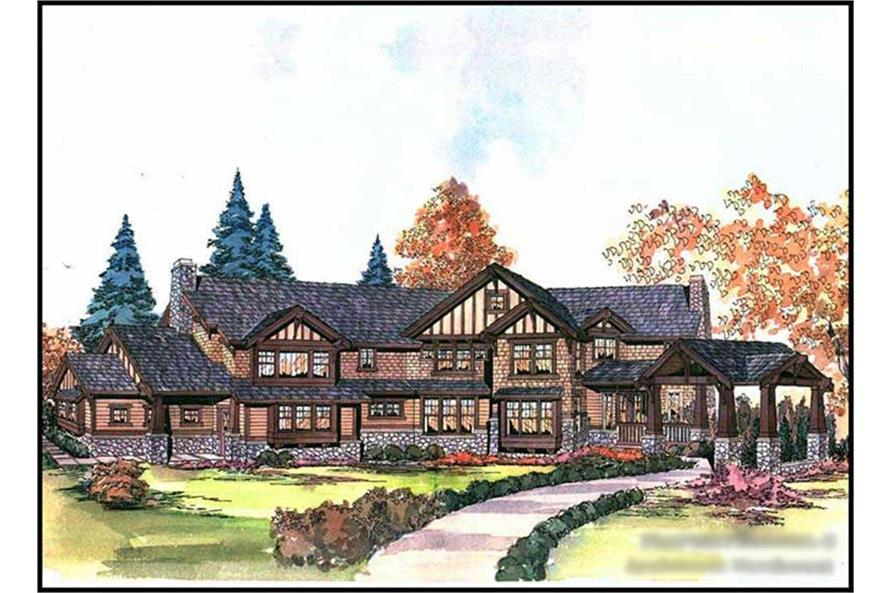 5-Bedroom, 5730 Sq Ft Craftsman Home Plan - 115-1268 - Main Exterior