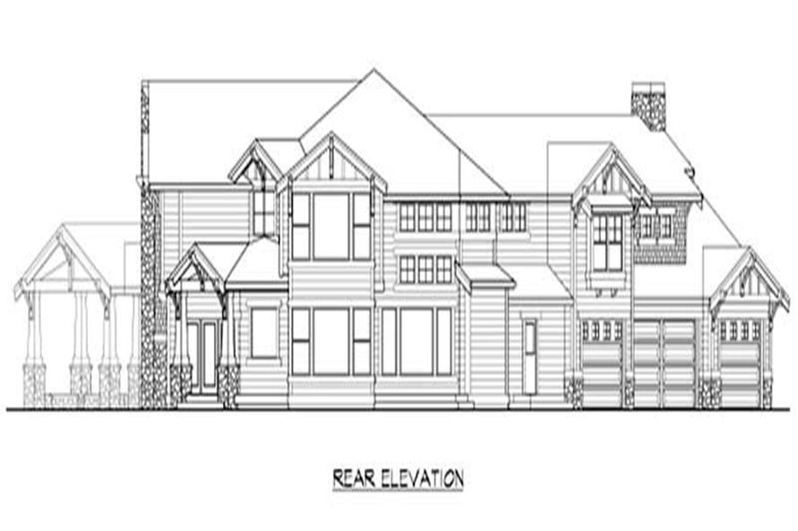 Home Plan Rear Elevation of this 5-Bedroom,5730 Sq Ft Plan -115-1268