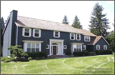 4-Bedroom, 3980 Sq Ft Colonial Home Plan - 115-1270 - Main Exterior