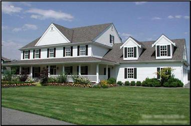 5-Bedroom, 5315 Sq Ft Country Home Plan - 115-1271 - Main Exterior