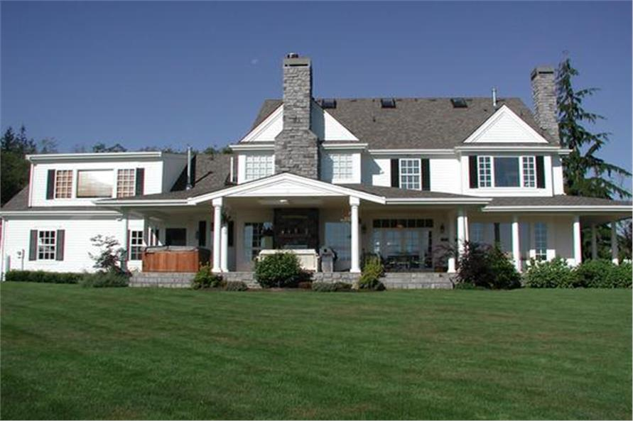 Rear View of this 5-Bedroom,5315 Sq Ft Plan -115-1271