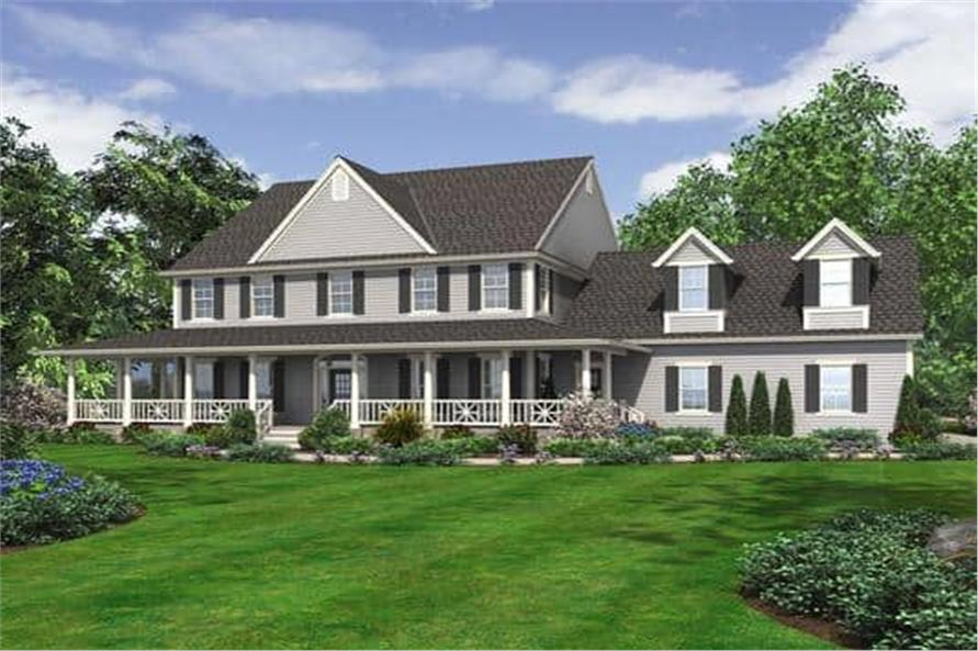 Front Elevation of this 5-Bedroom,5315 Sq Ft Plan -5315