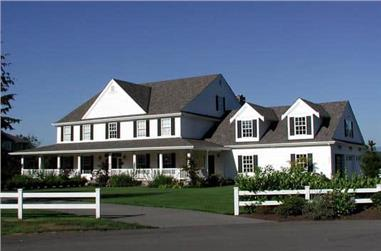 5-Bedroom, 5315 Sq Ft Luxury Country Home Plan - 115-1271 - Main Exterior