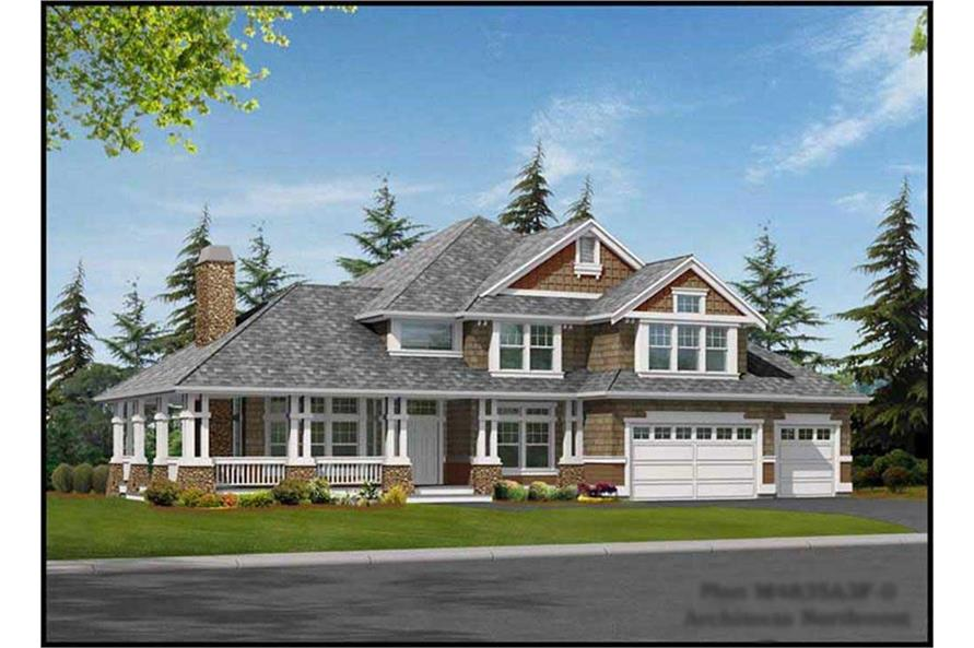 4-Bedroom, 4835 Sq Ft Country House Plan - 115-1272 - Front Exterior