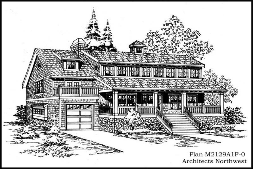 2-Bedroom, 2129 Sq Ft Country House Plan - 115-1273 - Front Exterior