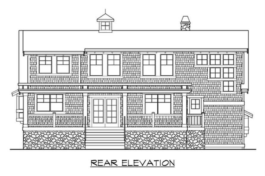 Home Plan Rear Elevation of this 2-Bedroom,2129 Sq Ft Plan -115-1273