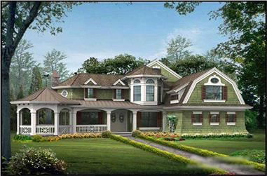 4-Bedroom, 3592 Sq Ft Country Home Plan - 115-1274 - Main Exterior