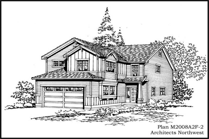3-Bedroom, 2021 Sq Ft Craftsman Home Plan - 115-1275 - Main Exterior