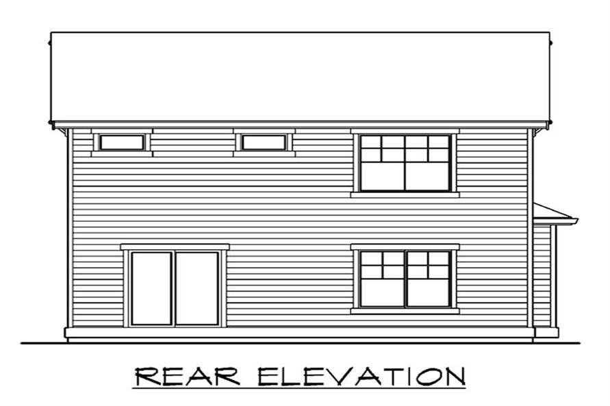 Home Plan Rear Elevation of this 3-Bedroom,2021 Sq Ft Plan -115-1275