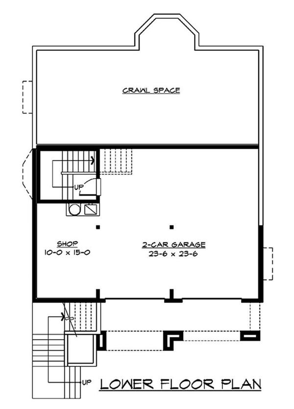 Floor Plan Lower Story & Garage