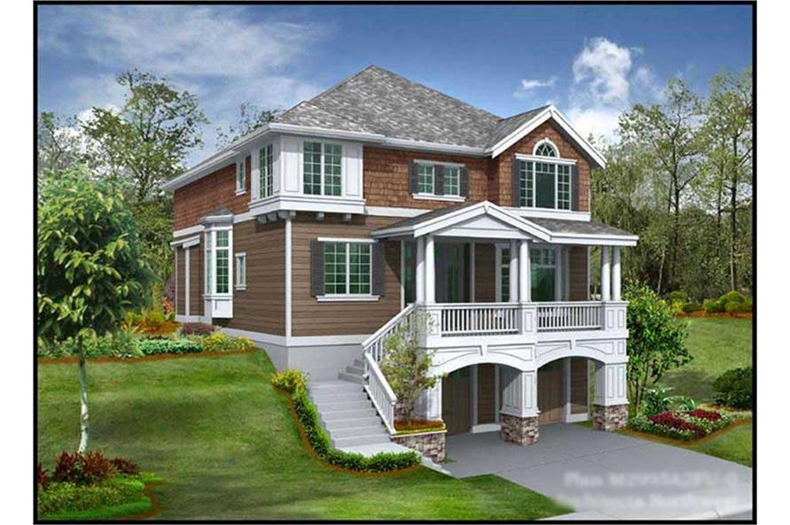 3-Bedroom, 2995 Sq Ft Ranch House Plan - 115-1276 - Front Exterior