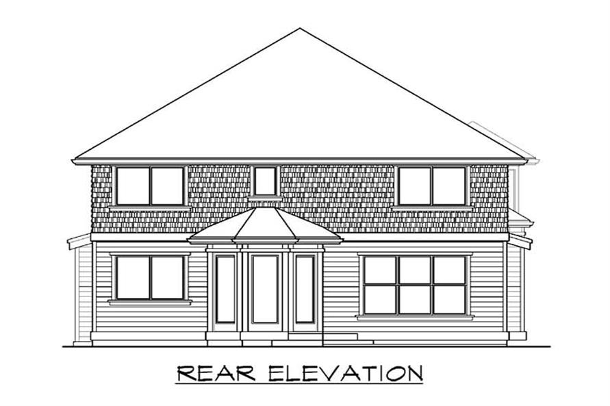 Home Plan Rear Elevation of this 3-Bedroom,2995 Sq Ft Plan -115-1276