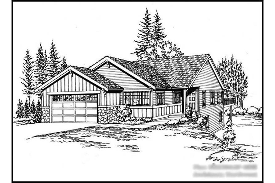 2-Bedroom, 2238 Sq Ft Ranch Home Plan - 115-1278 - Main Exterior