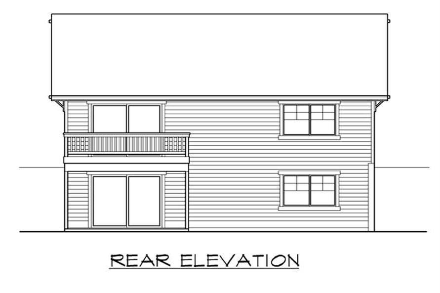 Home Plan Rear Elevation of this 2-Bedroom,2238 Sq Ft Plan -115-1278
