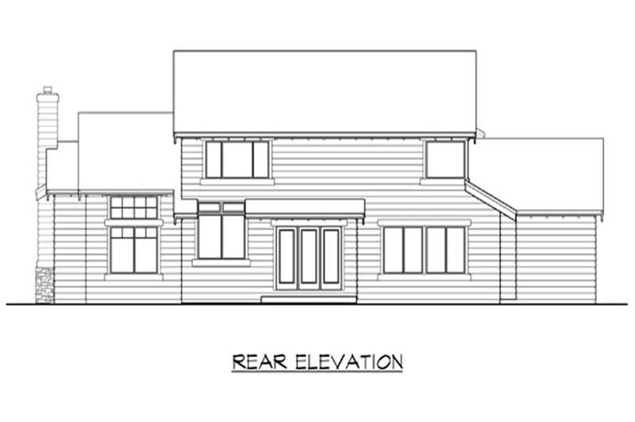 Home Plan Rear Elevation of this 3-Bedroom,2720 Sq Ft Plan -115-1279