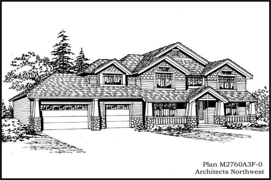 3-Bedroom, 2720 Sq Ft Ranch House Plan - 115-1279 - Front Exterior