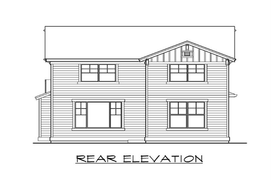 Home Plan Rear Elevation of this 3-Bedroom,2127 Sq Ft Plan -115-1280