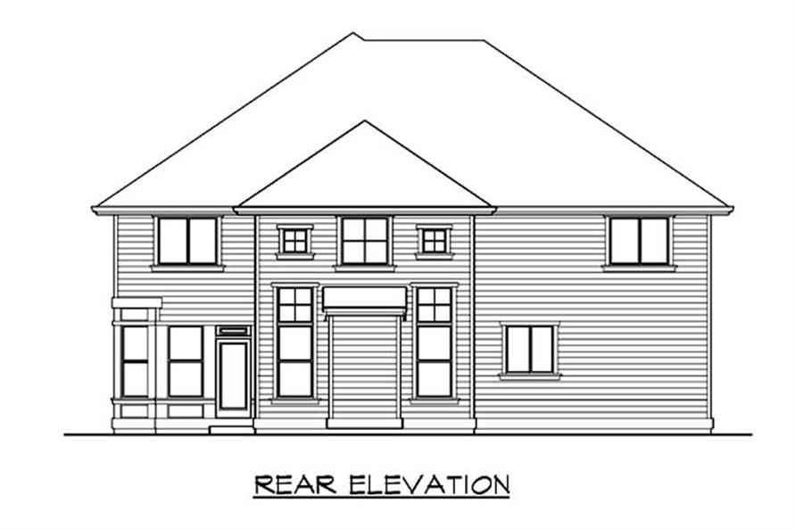 Home Plan Rear Elevation of this 4-Bedroom,3400 Sq Ft Plan -115-1281