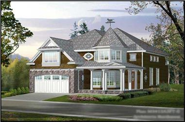 4-Bedroom, 3415 Sq Ft Craftsman Home Plan - 115-1283 - Main Exterior