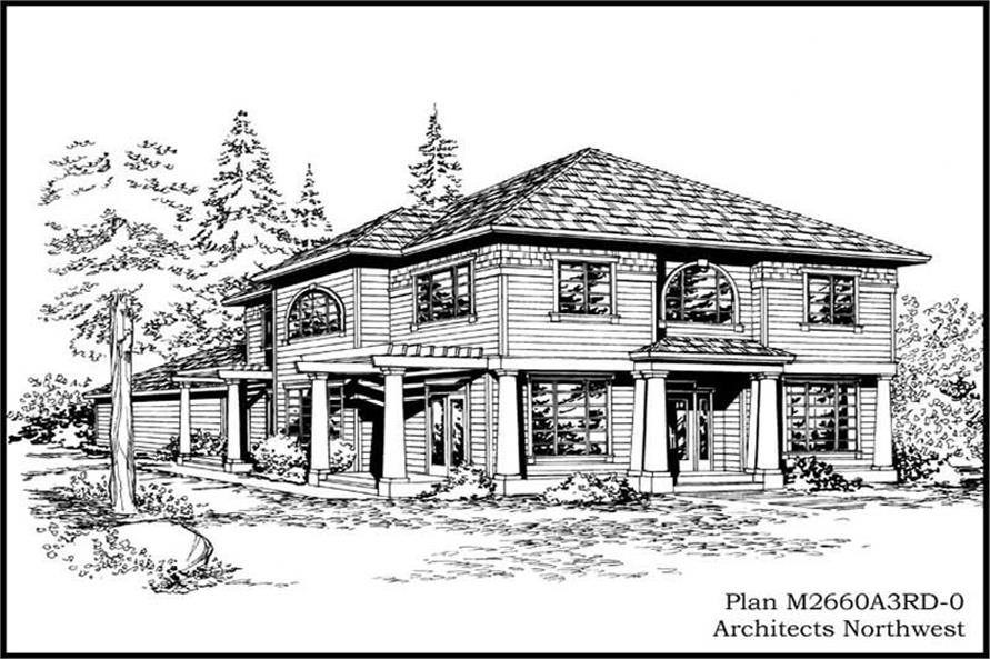 4-Bedroom, 2660 Sq Ft Colonial Home Plan - 115-1284 - Main Exterior
