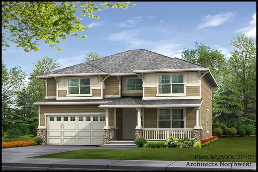 Home Plan Rendering of this 4-Bedroom,2590 Sq Ft Plan -115-1285