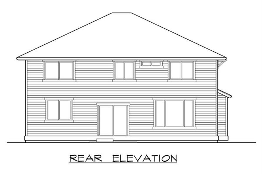 Home Plan Rear Elevation of this 4-Bedroom,2590 Sq Ft Plan -115-1285