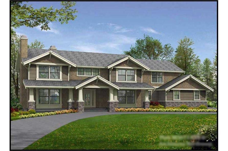 4-Bedroom, 3671 Sq Ft Ranch House Plan - 115-1287 - Front Exterior