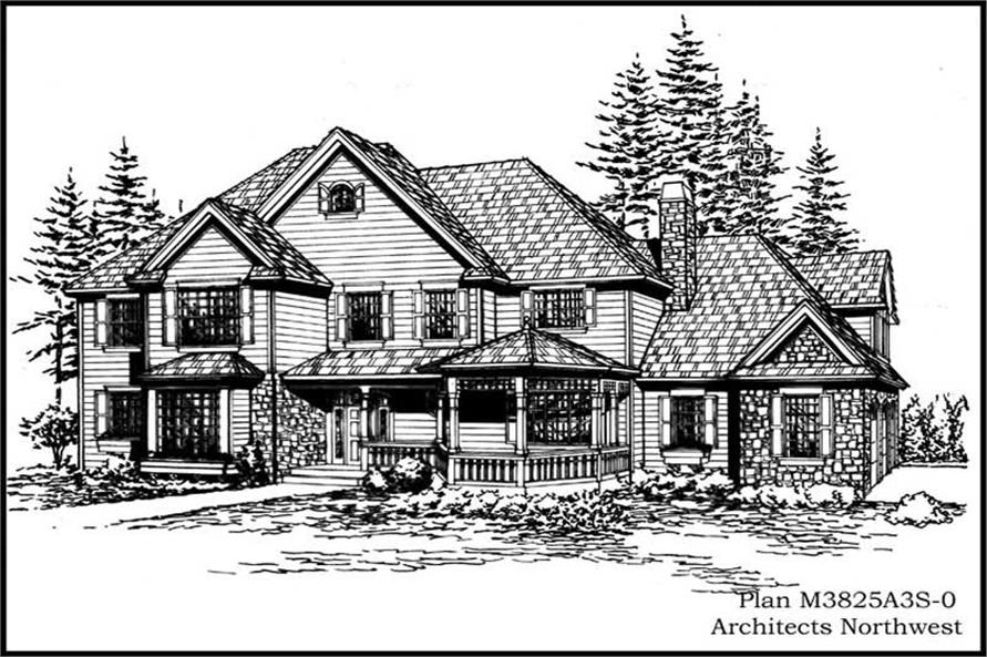 4-Bedroom, 3825 Sq Ft Country Home Plan - 115-1288 - Main Exterior