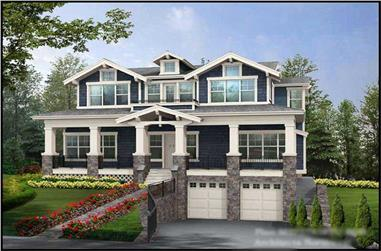 5-Bedroom, 3737 Sq Ft Multi-Level Home Plan - 115-1290 - Main Exterior