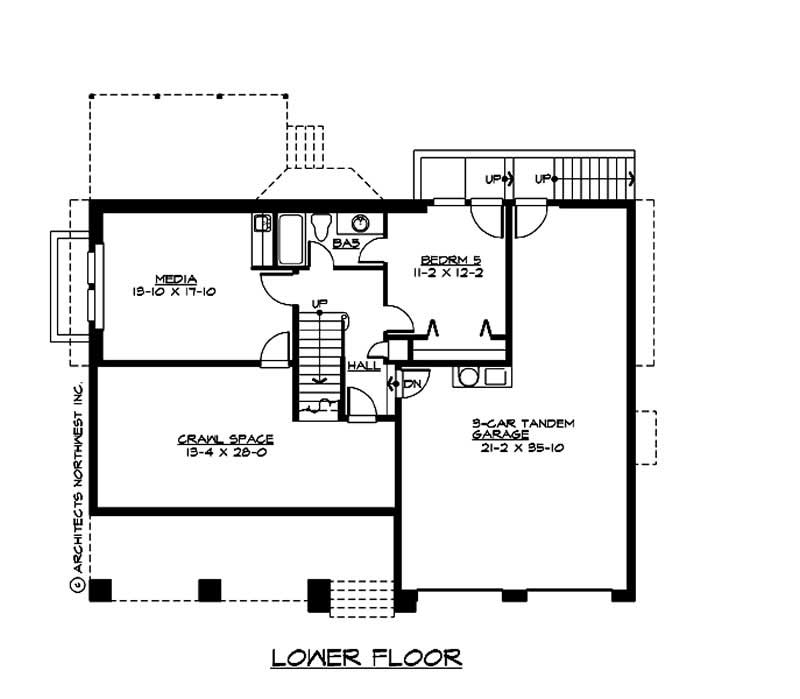 Multi level traditional home with 5 bedrms 3737 sq ft plan 115 1290 for Multi level floor plans