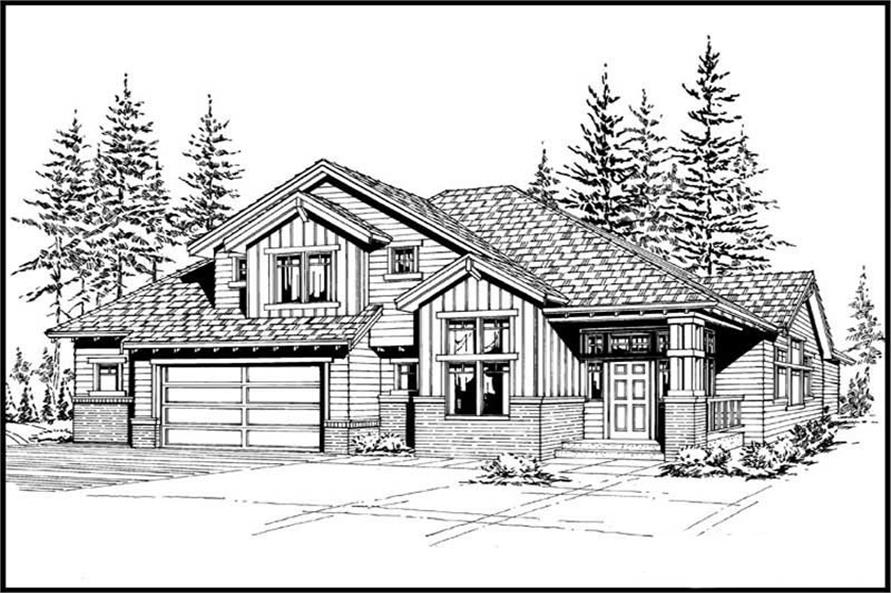 Home Plan Front Elevation of this 3-Bedroom,2270 Sq Ft Plan -115-1292