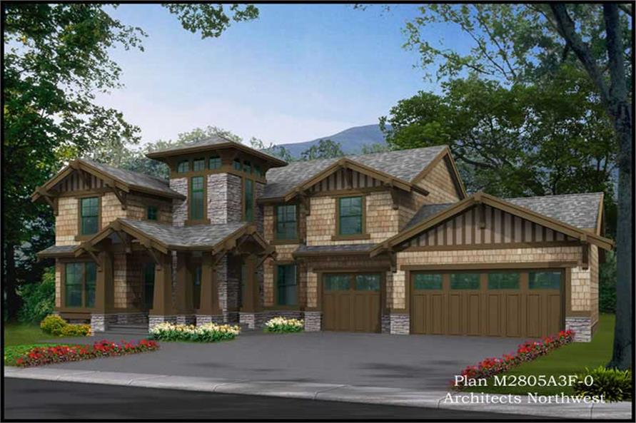 3-Bedroom, 3035 Sq Ft Multi-Level Home Plan - 115-1293 - Main Exterior