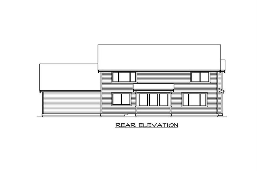 Home Plan Rear Elevation of this 3-Bedroom,3035 Sq Ft Plan -115-1293