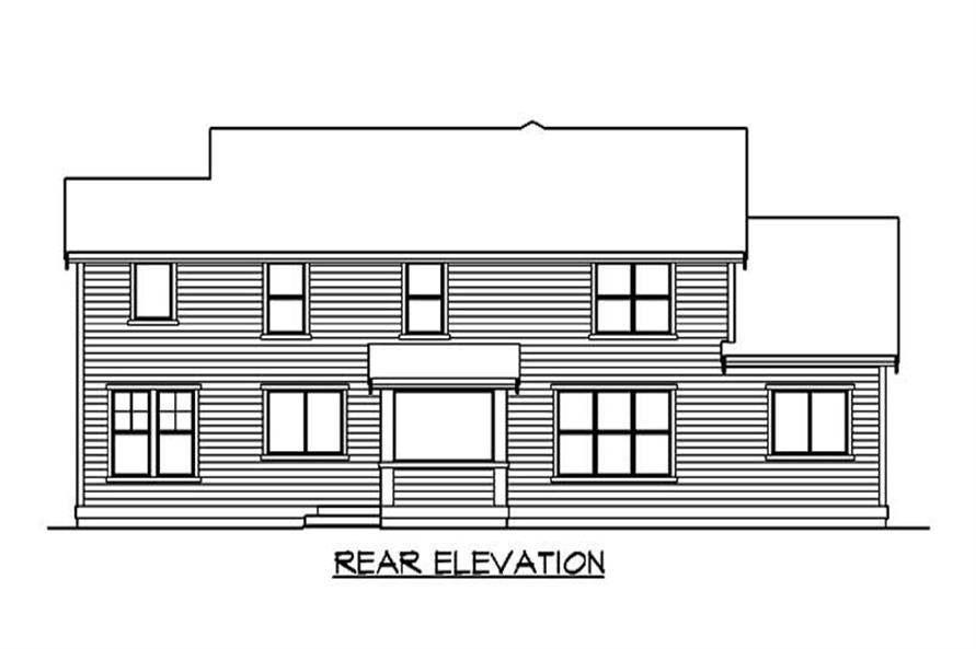 Home Plan Rear Elevation of this 3-Bedroom,2565 Sq Ft Plan -115-1299