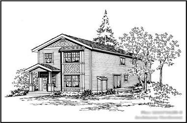 4-Bedroom, 1675 Sq Ft Multi-Level Home Plan - 115-1301 - Main Exterior
