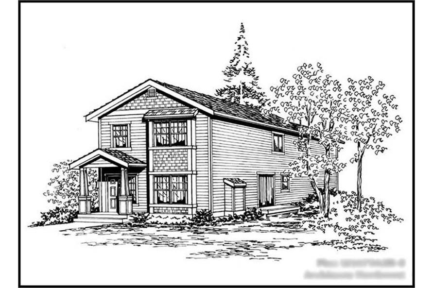 4-Bedroom, 1675 Sq Ft Multi-Level Home Plan - 115-1301 - Main Exterior