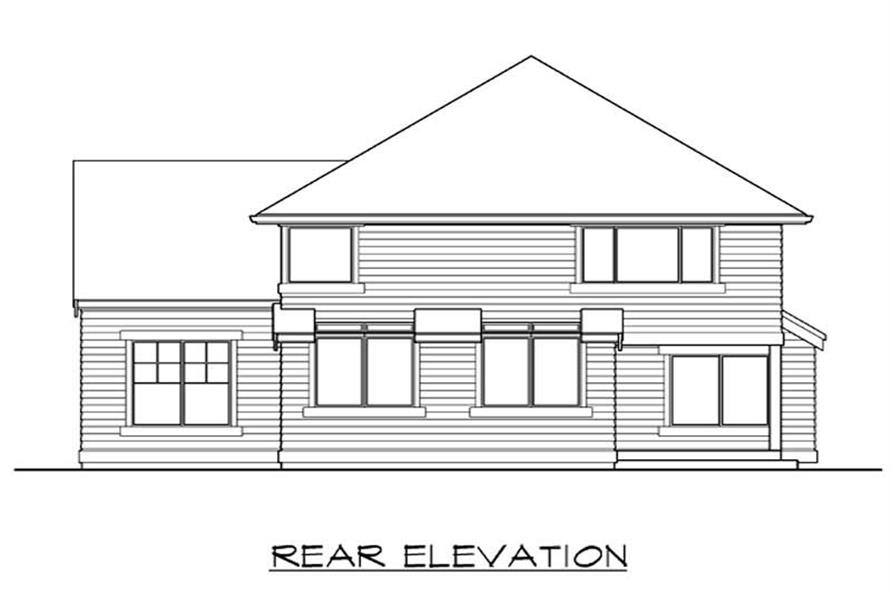 Home Plan Rear Elevation of this 3-Bedroom,2510 Sq Ft Plan -115-1302