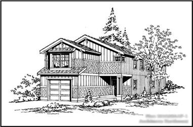4-Bedroom, 1625 Sq Ft Multi-Level House Plan - 115-1303 - Front Exterior