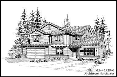 3-Bedroom, 2465 Sq Ft Ranch Home Plan - 115-1305 - Main Exterior