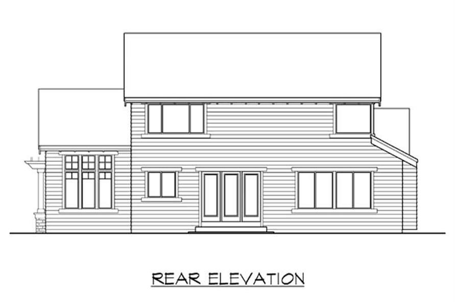 Home Plan Rear Elevation of this 3-Bedroom,2465 Sq Ft Plan -115-1305