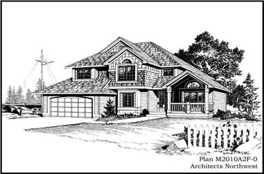 3-Bedroom, 2010 Sq Ft Country Home Plan - 115-1312 - Main Exterior