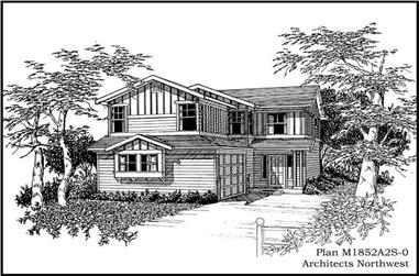 4-Bedroom, 1852 Sq Ft Multi-Level House Plan - 115-1315 - Front Exterior