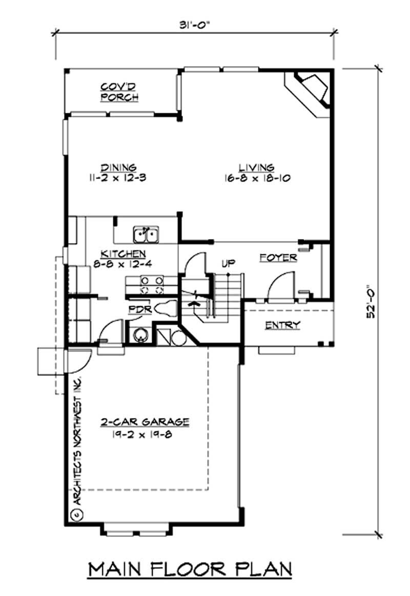 Traditional multi level house plans home design cd m1852a2s 0 14631 for Multi level floor plans