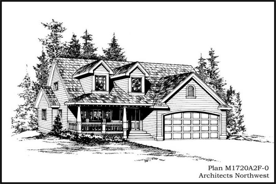 3-Bedroom, 1720 Sq Ft Ranch Home Plan - 115-1316 - Main Exterior