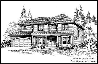 3-Bedroom, 2540 Sq Ft Craftsman House Plan - 115-1320 - Front Exterior