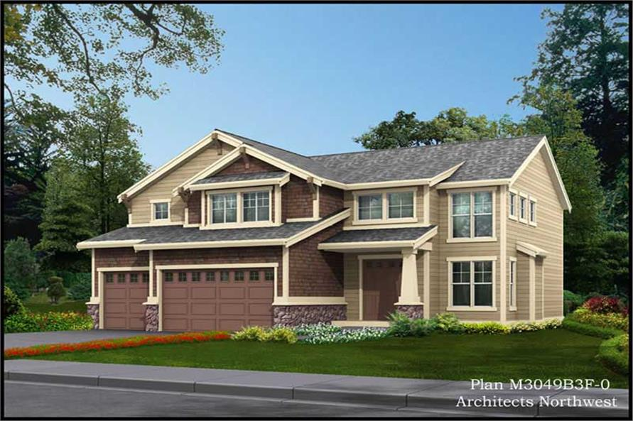 4-Bedroom, 3049 Sq Ft Ranch Home Plan - 115-1322 - Main Exterior