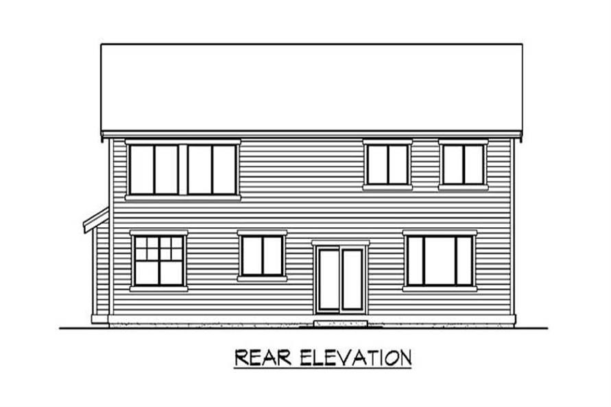 Home Plan Rear Elevation of this 4-Bedroom,3049 Sq Ft Plan -115-1322