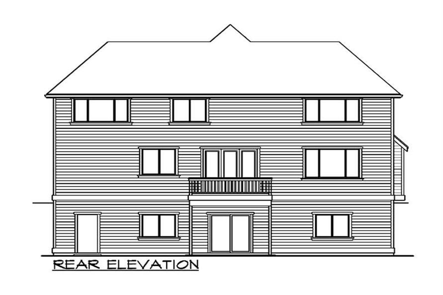 Home Plan Rear Elevation of this 5-Bedroom,3395 Sq Ft Plan -115-1323