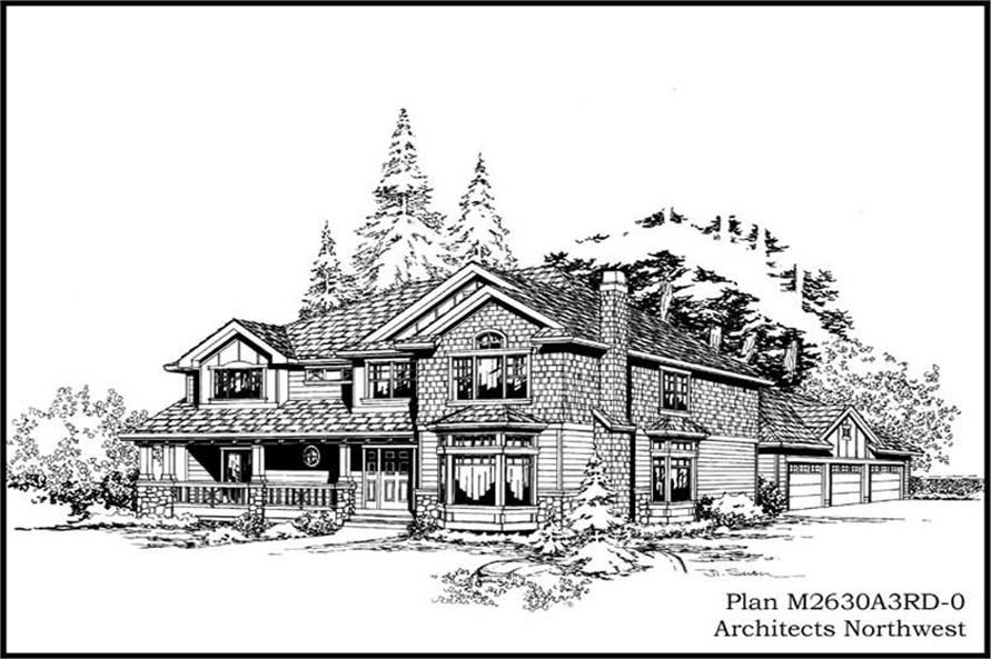 Main image for house plan # 14755